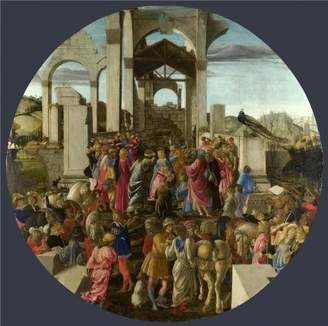 Sandro Oil Paintings Canvas Prints The Perfect effect Canvas of oil painting 'Sandro Botticelli-The Adoration of the Kings,1470-5' ,size: 10x10 inch / 25x26 cm ,this Beautiful Art Decorative Canvas Prints is fit for Wall art gallery art and Home decoration and Gifts