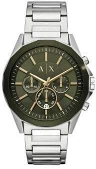 Armani Exchange Drexler Chronograph Stainless Steel Bracelet Watch