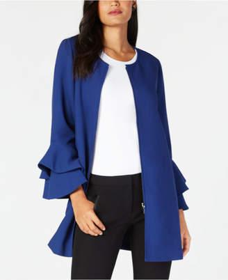 Alfani Flared-Sleeve Collarless Jacket