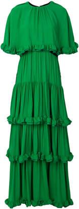 MSGM ruffle drape gown
