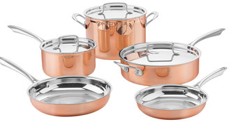 Cuisinart 8Pc Copper Tri-Ply Stainless Steel Cookware Set