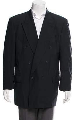 Pierre Balmain Double-Breasted Wool Blazer blue Double-Breasted Wool Blazer