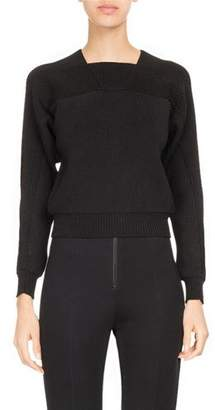 Atlein Ribbed Square-Neck Sweater