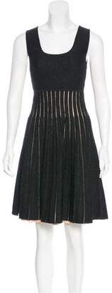 Issa Metallic Rib Knit Dress