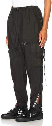 Off-White Off White Parachute Cargo Pant in Black | FWRD