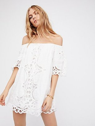 Battenburg Off-The-Shoulder Mini Dress by Free People $168 thestylecure.com