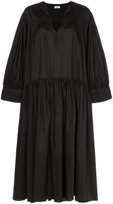Totême Alassio pleated skirt midi dress
