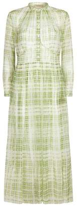 Burberry Check Print Silk Dress