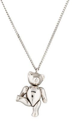 Christian Dior  Christian Dior Teddy Bear Pendant Necklace
