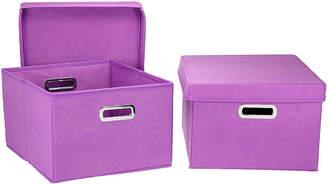 Household Essentials 2-Piece Side Storage Bin Set