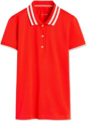 Performance Pique Pleated-Collar Polo