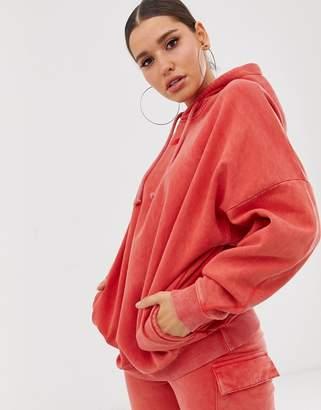 Criminal Damage oversized acid wash hoodie two-piece