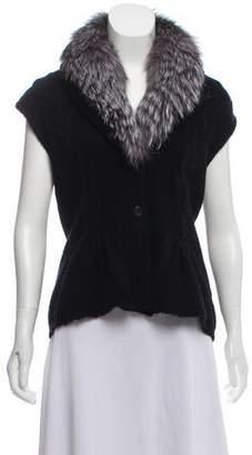 Magaschoni Fur-Trimmed Wool Vest