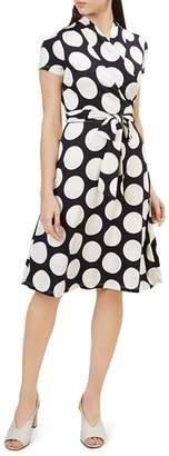 Hobbs London April Polka Dot Wrap Dress