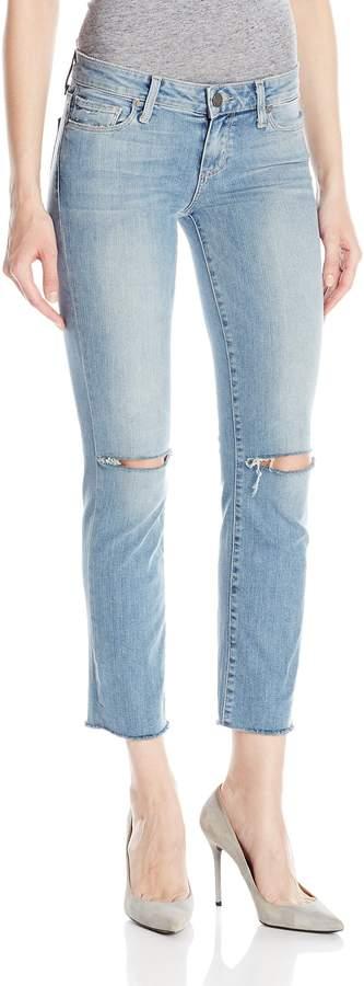 Paige Women's Miki Straight W/ Raw Hem Jeans