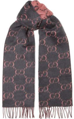 Gucci Fringed Alpaca And Wool-blend Scarf