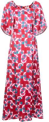 La Double J Geometric Print Dress