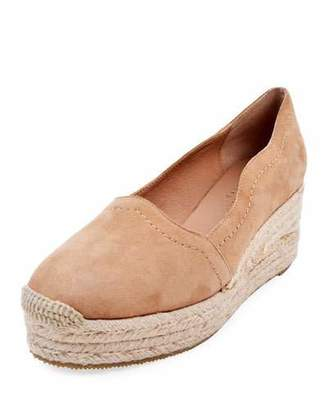Bettye Muller Concept Reese Scalloped Suede Espadrilles, Beige