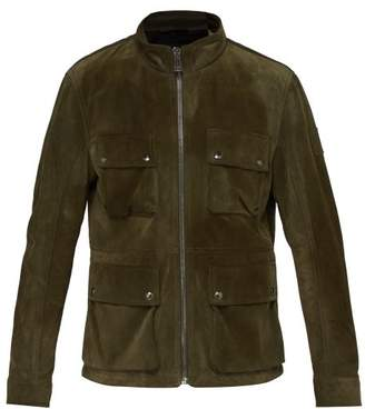 Belstaff Brad Four Pocket Suede Field Jacket - Mens - Green