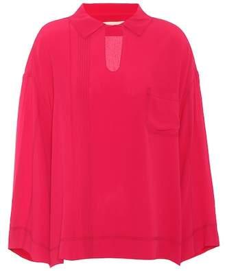 Marni Crêpe silk-blend blouse