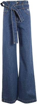 MSGM Belted Flared Jeans