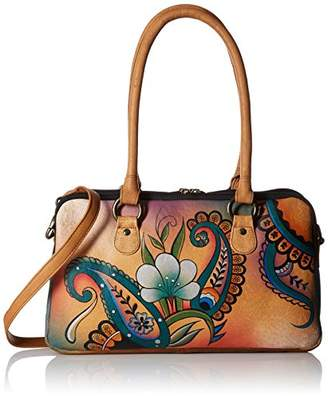 Anuschka Anna by Women's Genuine Leather Satchel | Multi-Compartment | | Floral Paisley