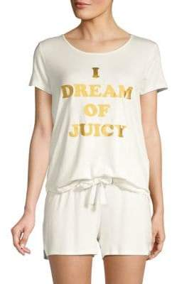 Juicy Couture Two-Piece Graphic Pajama Set