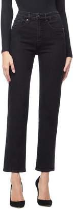 Good American Twist Seam Crop Straight Leg Jeans