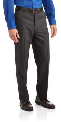 George Men's Microfiber Performance Flat Front Dress Pant