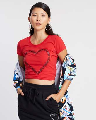 Love Moschino Love Heart Logo T-Shirt