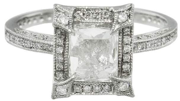 Cathy WatermanCathy Waterman Pavé Frame Diamond Ring