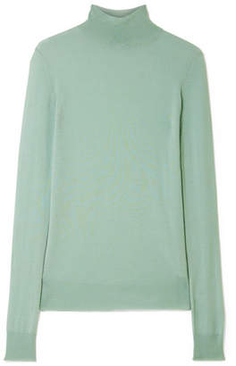 Joseph Cashmere Turtleneck Sweater - Gray green