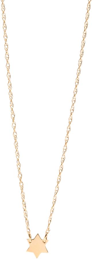 Jennifer Zeuner Jewelry Extra Small Star of David Necklace