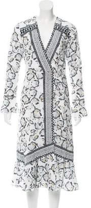 Thakoon Printed Midi Dress w/ Tags