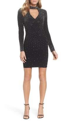 Xscape Evenings Embellished Choker Neck Body-Con Dress