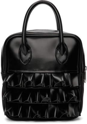 Comme des Garcons Black Ruffled Duffle Bag