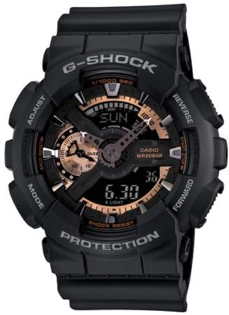 G-SHOCK BABY-G G-Shock 'X-Large' Rose Gold Dial Watch, 55mm
