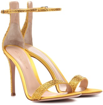 Gianvito Rossi Exclusive to mytheresa.com Glam embellished satin sandals