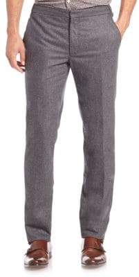 SLOWEAR Washed Slim Straight-Leg Pants