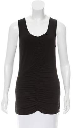 Burberry Sleeveless Ruched Top