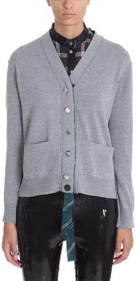 Marc Jacobs Grey Wool Jewel Buttons Cardigan