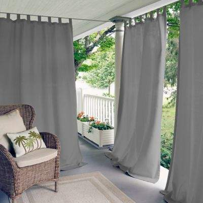 Elrene Home Fashions Matine 84-Inch Tab Top Window Curtain Panel in Grey