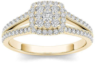 MODERN BRIDE 1/2 CT. T.W. Diamond 10K Yellow Gold Engagement Ring