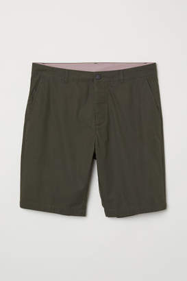H&M Knee-length Cotton Shorts - Green