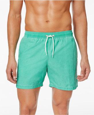 Barbour Men's Victor Slim-Fit Green Swim Trunks $89 thestylecure.com