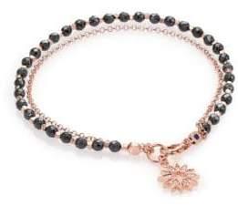 Astley Clarke Biography Hematite& White Sapphire Sun Beaded Friendship Bracelet
