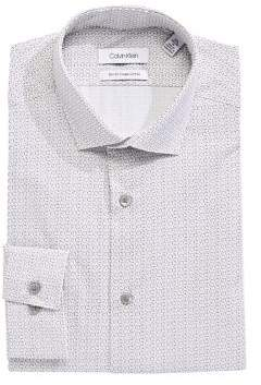 Calvin Klein Slim-Fit Geometric Print Dress Shirt
