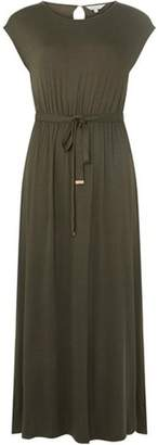 Dorothy Perkins Womens Petite Khaki Maxi Dress
