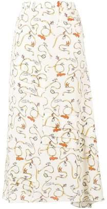 Marni playful print skirt