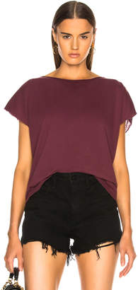 Raquel Allegra Reversible Muscle Tee in Garnet | FWRD